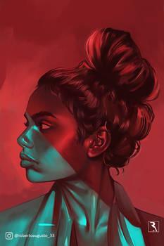 Portrait - Red Blue