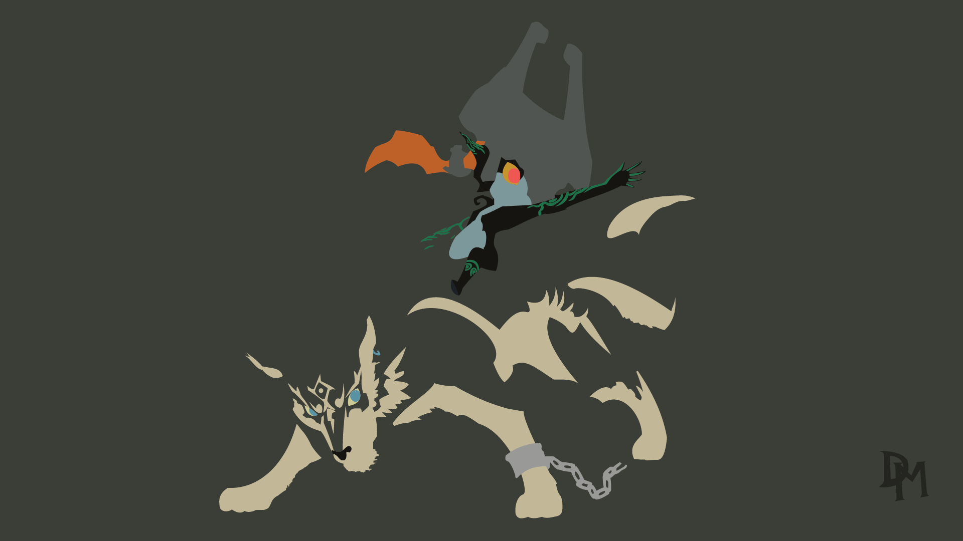 The Legend Of Zelda Tp Wolf Link And Midna By Disastermastr On