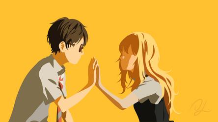 Your Lie In April - Kousei Arima | Kaori Miyazono by DisasterMastr