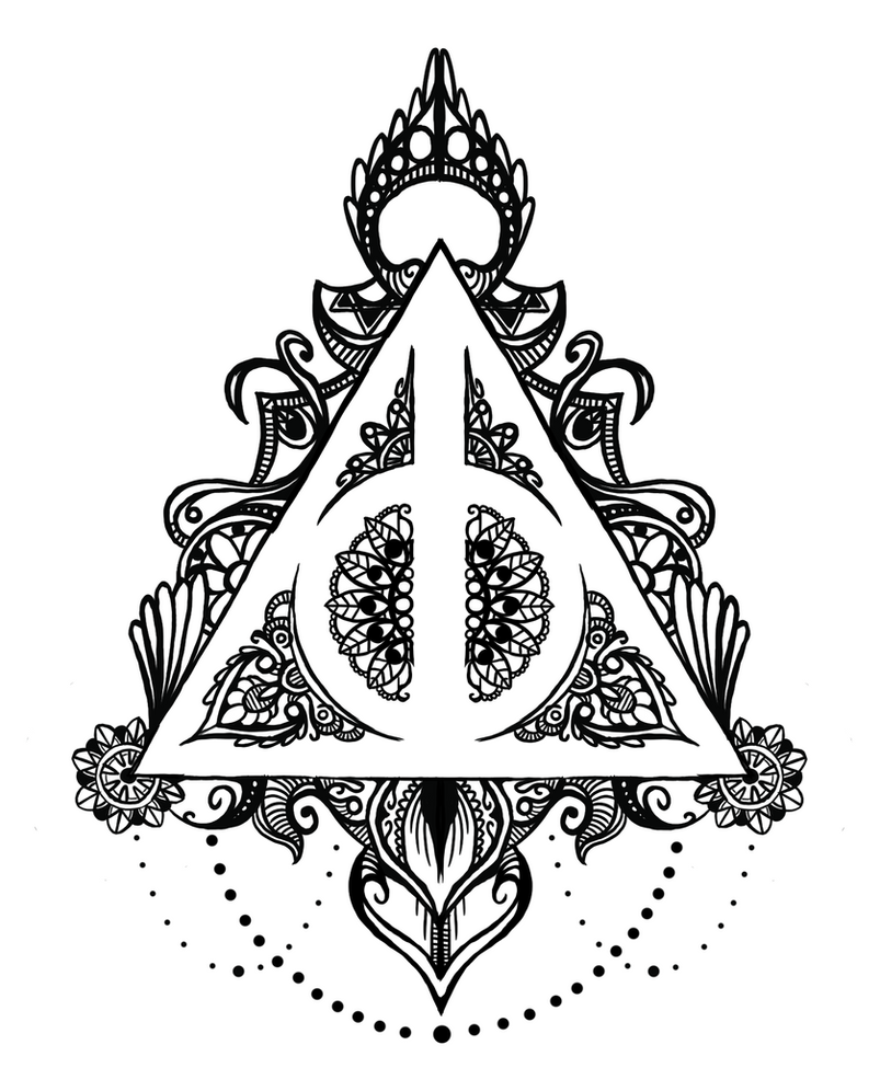 Deathly Hallows Mandala By Midlifebeef51 On DeviantArt