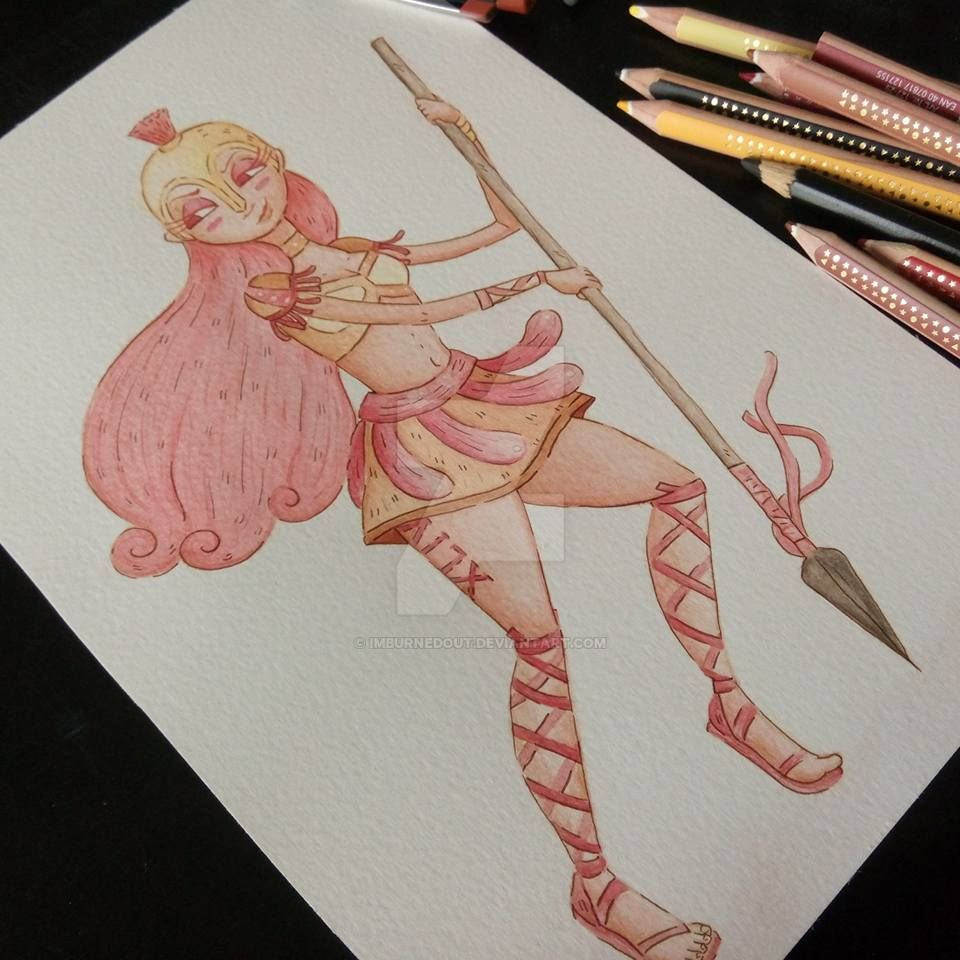 Character Design Challenge Gladiator : Character design challenge nov gladiatrix by