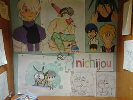 My wall in my room by Abi-Chan14