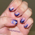 Purple French Tips