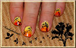 Falling Leaves Nail Design