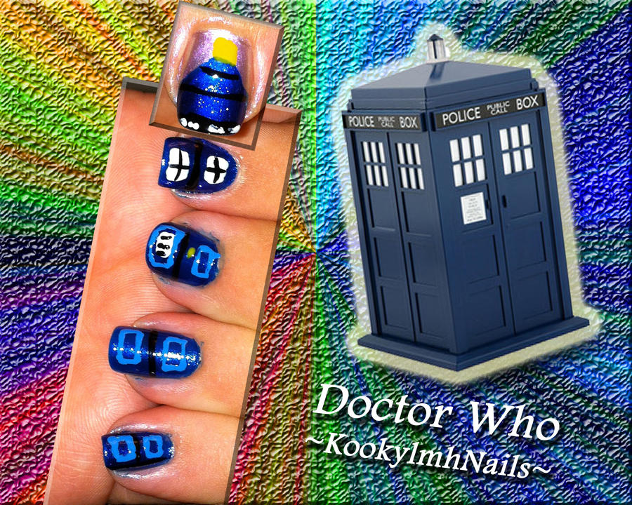 Tardis Nail Design By Kookylmhnails On Deviantart