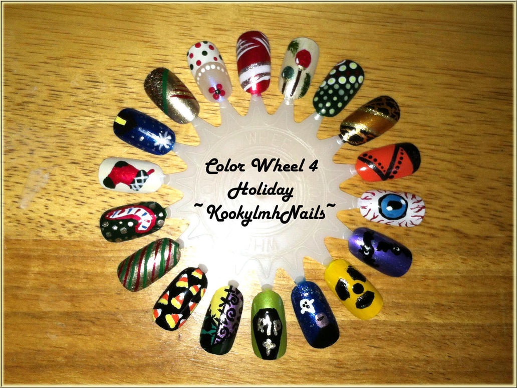 Color Wheel 4 - Holiday Nail Designs by KookylmhNails on DeviantArt