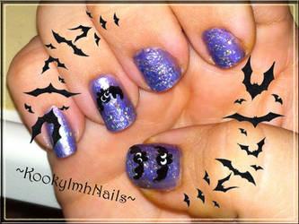 Cute Bat Nails - Halloween 2012