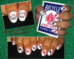 Queen of Heart Nails by KookylmhNails