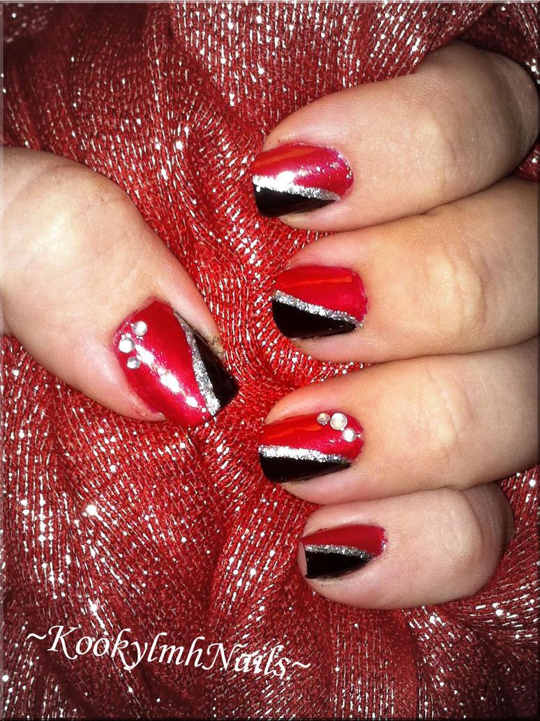 Elegant Red Nails by KookylmhNails on DeviantArt