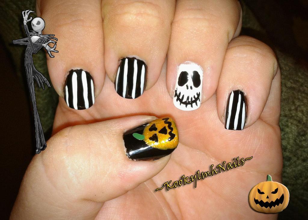Jack the Pumpkin King Nails by KookylmhNails on DeviantArt