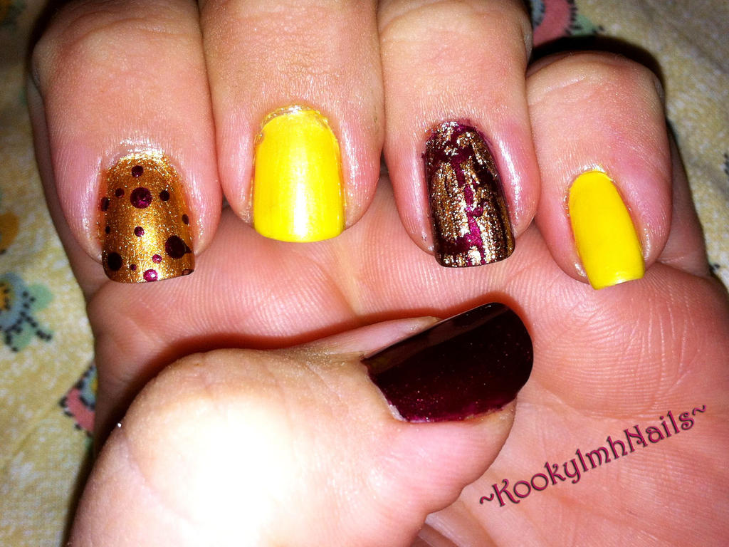 Fall Color Nails by KookylmhNails on DeviantArt
