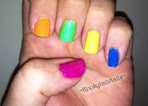 Rave Glitter Nails