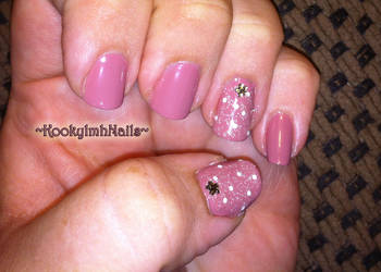 Glitter Flower Gem Nails by KookylmhNails
