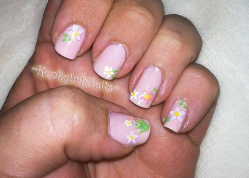 Girly Flower Nails