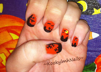 Graveyard - Halloween 2014 by KookylmhNails