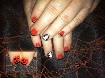 Ghost Nails - Halloween 2014 by KookylmhNails