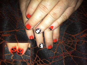 Ghost Nails - Halloween 2014