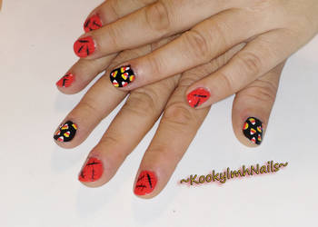Mini Candy Corn Nails - Halloween 2014 by KookylmhNails