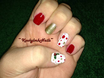 Christmas 2014 - Holiday Dots by KookylmhNails