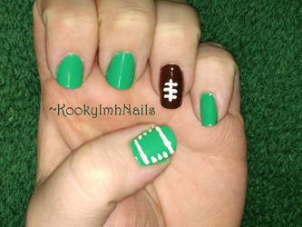 Football Nails by KookylmhNails