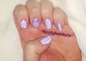 Purple Glam Nails
