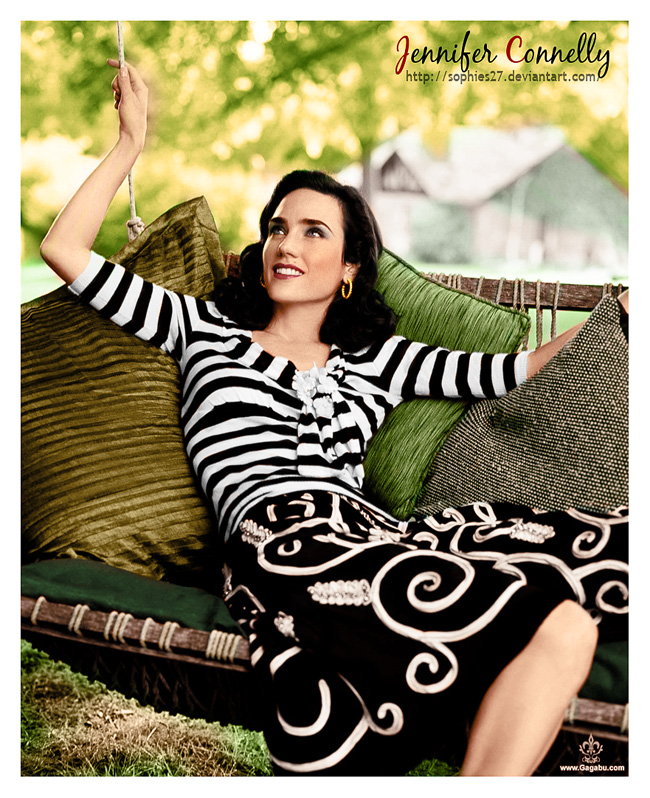 Colorize Jennifer Connelly 2 by Sophies27