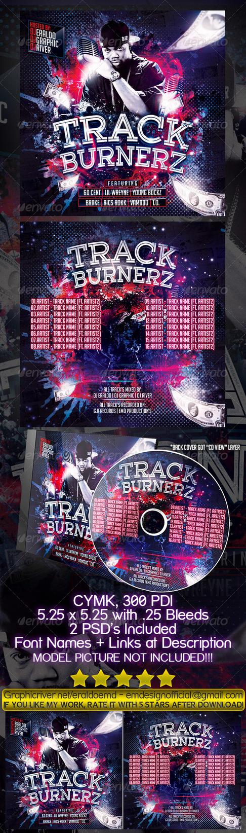 Underground Mixtape Cover Track Burnerz by EmDesignEmd
