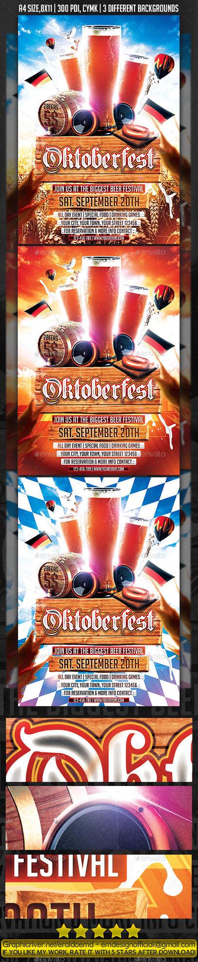 Oktoberfest Flyer / Poster by EmDesignEmd
