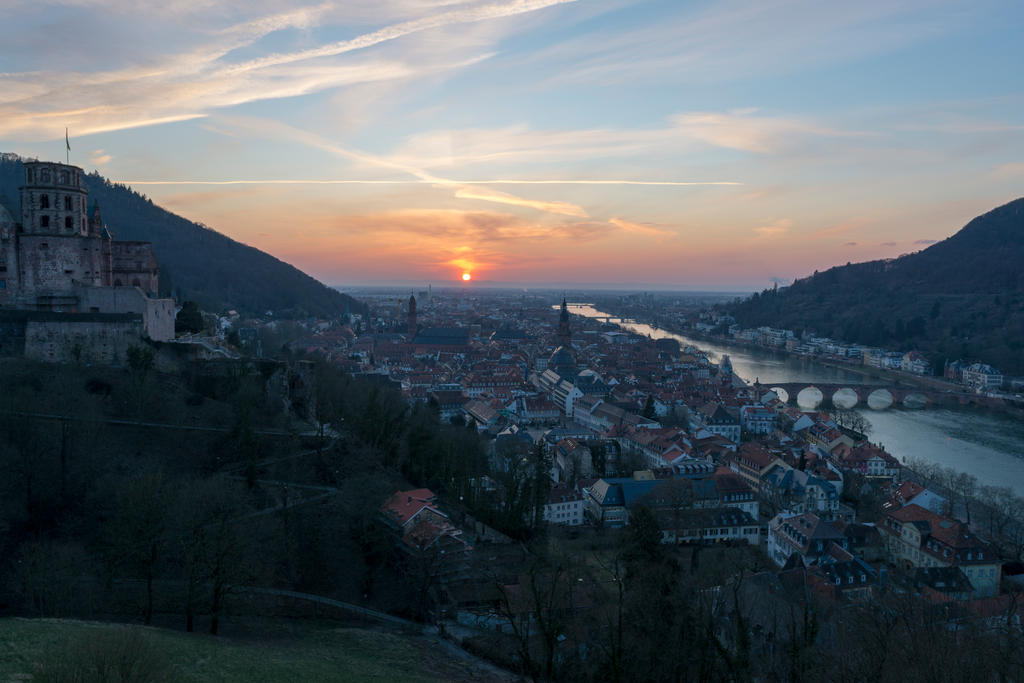 Sunset in Heidelberg by DansPhotos