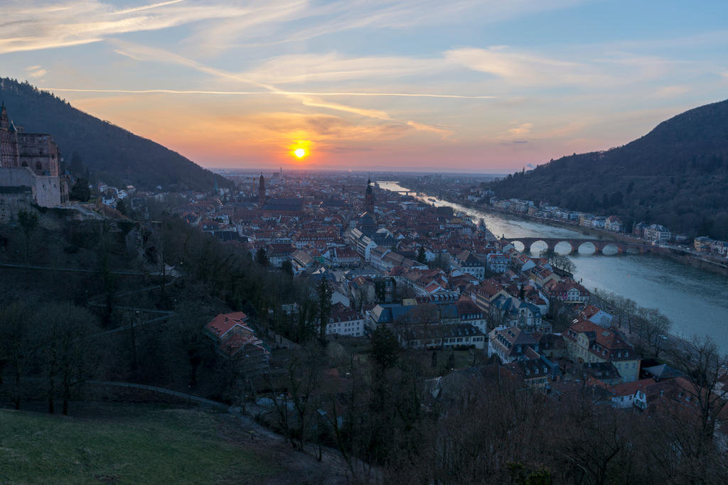 Sunset in Heidelberg II by DansPhotos