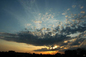 Cloud Burst Sunset