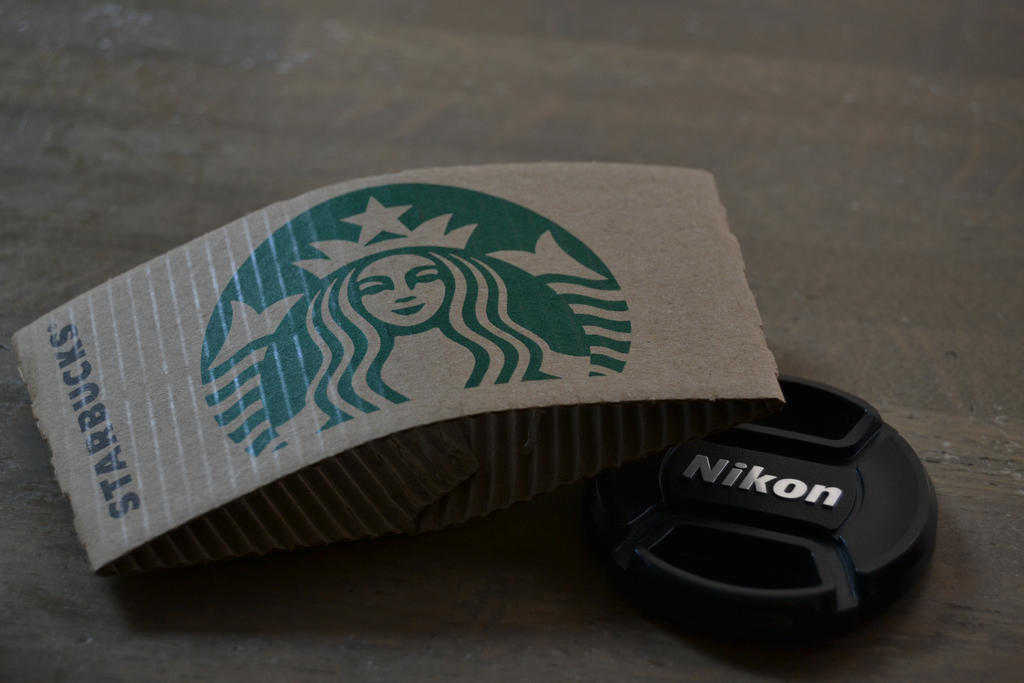 Starbucks and nikon together by Mariestel