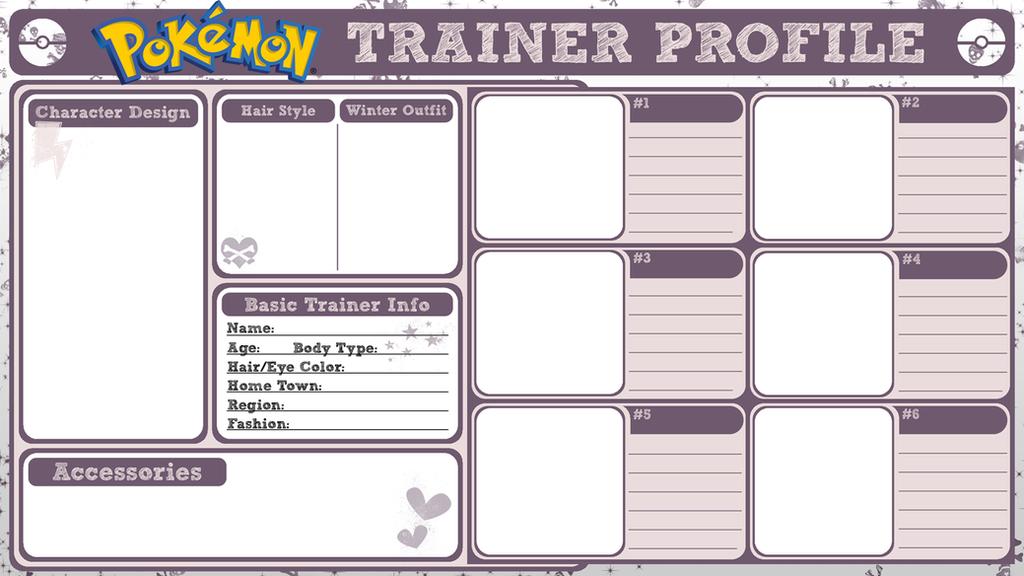 pokemon trainer profile by poisonoussugar on deviantart. Black Bedroom Furniture Sets. Home Design Ideas