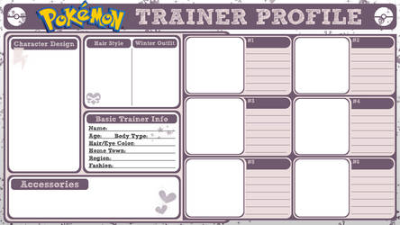 Pokemon Trainer Profile