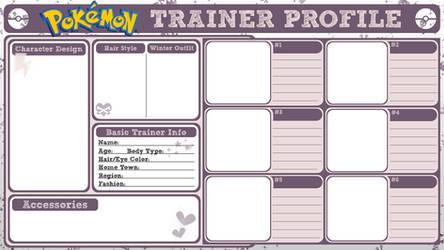 Pokemon Trainer Profile by PoisonousSugar