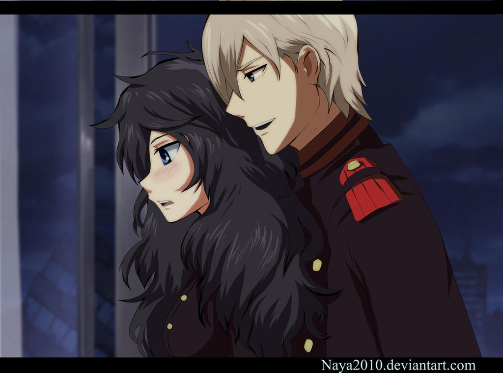Owari no Seraph Miyu and Shinya by Naya2010