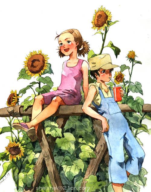 children in paradise V by shel-yang