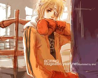 boxing boy by shel-yang