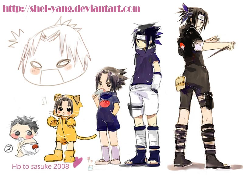 Anime Characters Grown Up : Sasuke growing up by shel yang on deviantart