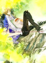 Natsume and Nyanko-sensei by shel-yang