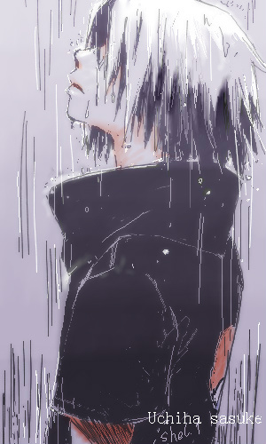 Sasuke in the rain by shel-yang