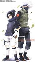 kakashi and sasuke II by shel-yang