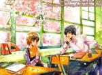 Before the sakura  blooming