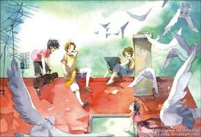 children in paradise II by shel-yang