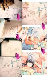 process of watercolour by shel-yang