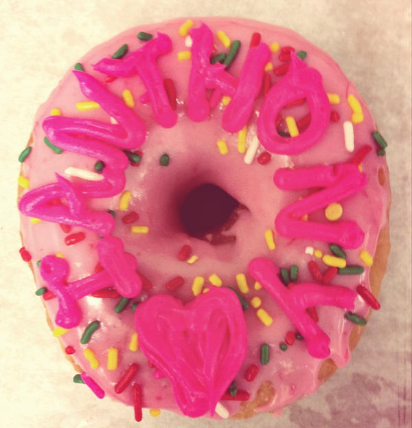 pink raised doughnuts with toasted coconut doughnuts at pink donuts ...
