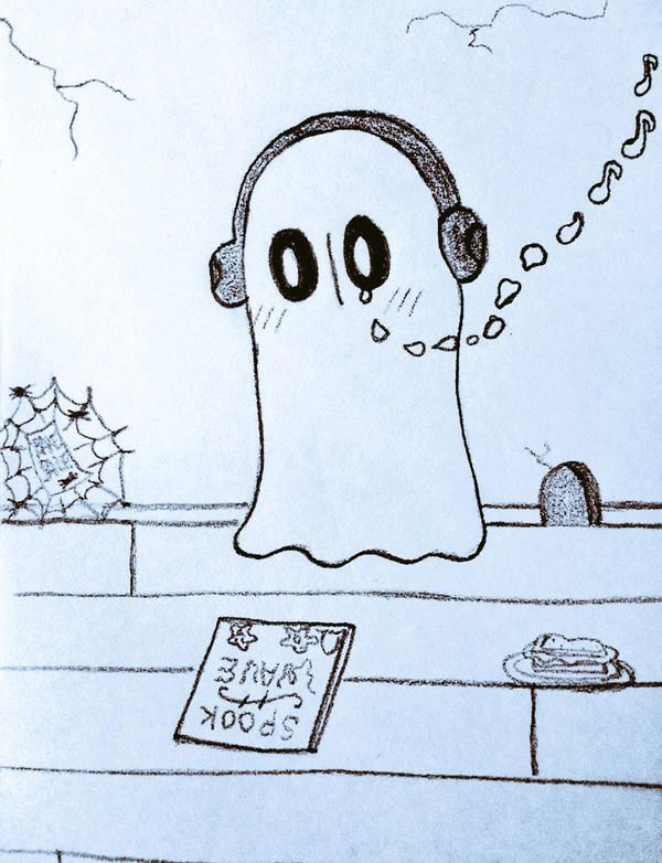 ghost sandwich and a bake sale by EsperTortuga