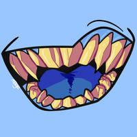 Blue Teethies by TripleAMage