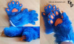 [For sale] Handpaws Blue by Chibi-Alu