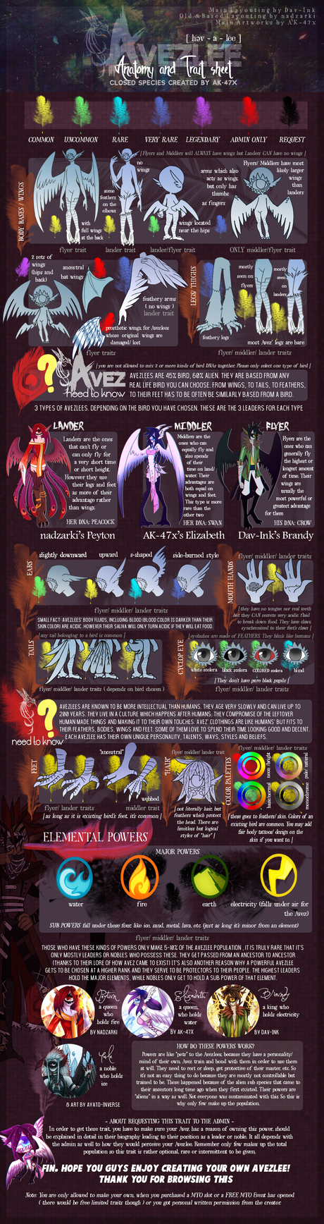 Avezlees Traits and Anatomy Sheet. by AK-47x